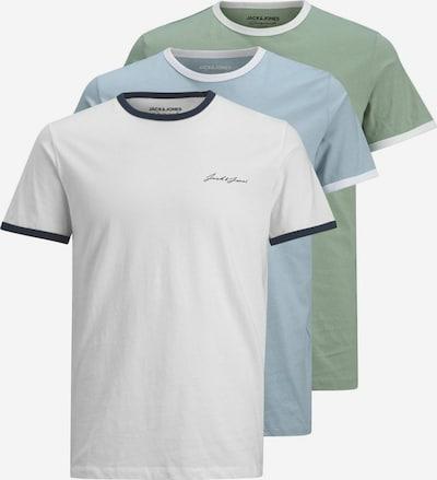 JACK & JONES Tričko - světlemodrá / světle zelená / bílá, Produkt