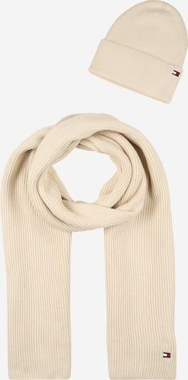 TOMMY HILFIGER Schal und Mütze Set 'Essential' in creme, Produktansicht