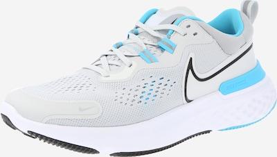 NIKE Skriešanas apavi 'React Miler 2', krāsa - ūdenszils / gaiši pelēks / melns / balts, Preces skats