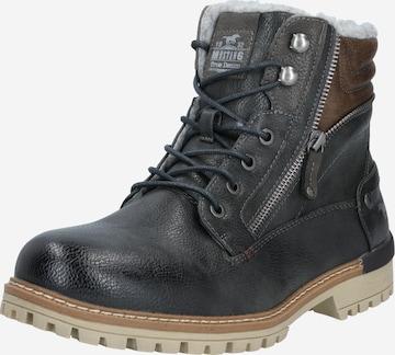 MUSTANG Boots med snörning i grå