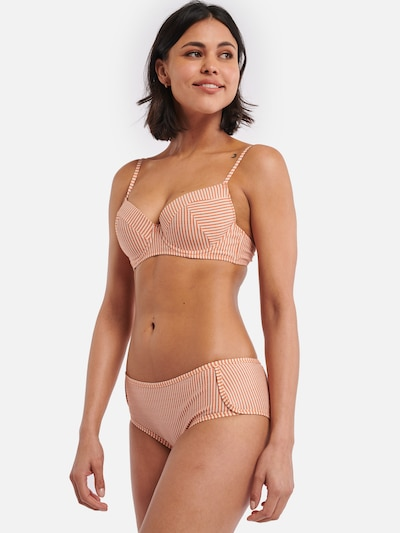 Shiwi Bikini top 'Ipanema Nora' in Orange / White, View model