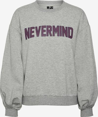 VERO MODA Sweater majica 'Venus' u siva melange / patlidžan, Pregled proizvoda