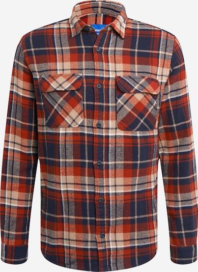 JACK & JONES Koszula 'JONAS' w kolorze beżowy / granatowy / rdzawoczerwonym, Podgląd produktu