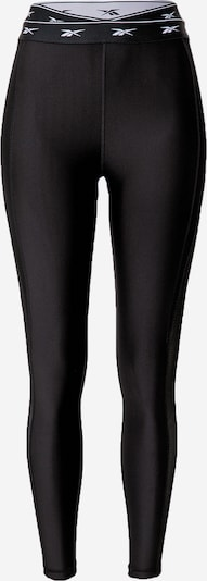 REEBOK Pantalon de sport en noir / blanc, Vue avec produit