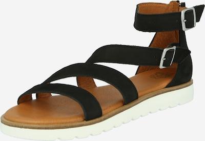 Sandale cu baretă Apple of Eden pe negru, Vizualizare produs
