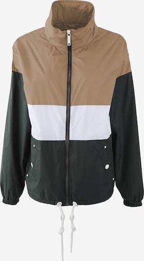 DreiMaster Maritim Jacke in beige / dunkelgrün / weiß, Produktansicht