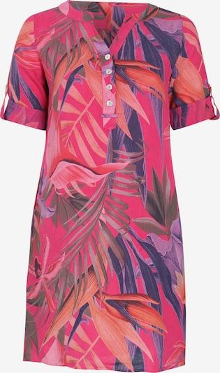 Paprika Kleid in dunkelblau / dunkelgrün / flieder / fuchsia, Produktansicht