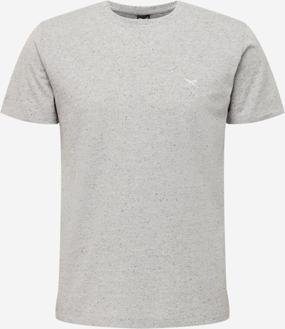 Iriedaily T-Shirt 'Retain' in graumeliert / weiß, Produktansicht
