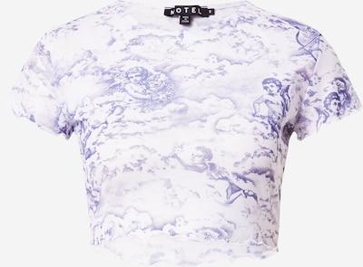 Motel Тениска 'Tince' в светлолилаво / бяло, Преглед на продукта