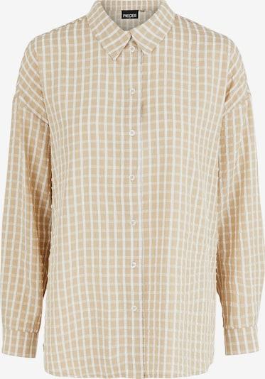 PIECES Blouse 'Sylvia' in Kitt / Light brown / White, Item view
