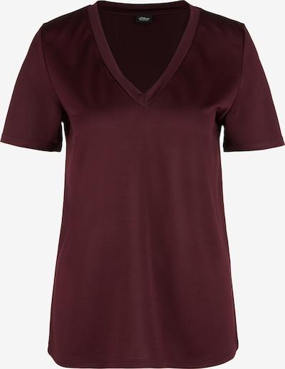 s.Oliver BLACK LABEL T-Shirt in bordeaux, Produktansicht