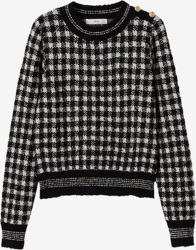 MANGO Sweater 'Magolita' in Black / White, Item view