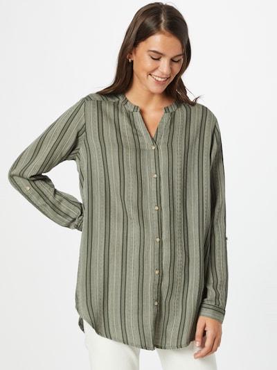 Fransa Blouse 'BAJOY' in de kleur Groen / Pastelgroen / Donkergroen, Modelweergave