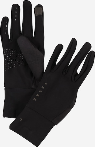 FALKE Sports gloves in Black