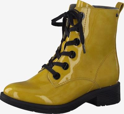 JANA Schnürstiefel in gelb / schwarz, Produktansicht