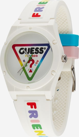 GUESS Uhr in mischfarben / weiß, Produktansicht