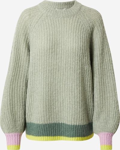 mbym Pullover 'Jacki' in gelb / grün / dunkelgrün / rosa, Produktansicht