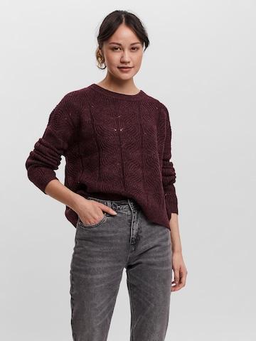 VERO MODA Sweater 'STINNA' in Red