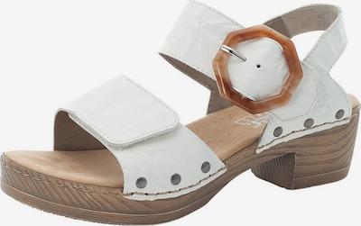 RIEKER Sandale in hellbraun / weiß, Produktansicht