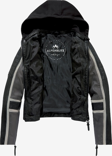 ALPENBLITZ ALPENBLITZ Lederjacke in grau / schwarz, Produktansicht