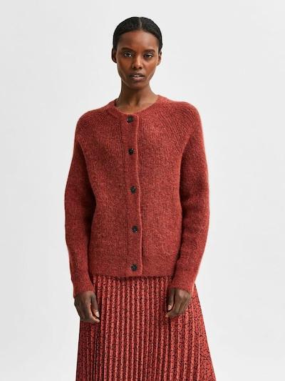 SELECTED FEMME Strickjacke 'SLFLulu' in rot, Modelansicht
