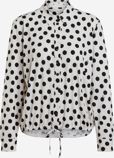 OUI Bluse in schwarz / offwhite, Produktansicht