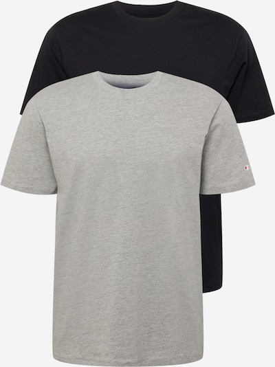 Champion Authentic Athletic Apparel T-Shirt en gris chiné / noir, Vue avec produit