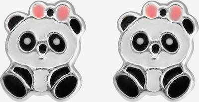 FIRETTI Ohrringe in pastellpink / schwarz / silber / weiß, Produktansicht