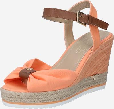 TOM TAILOR Sandale in chamois / lachs, Produktansicht