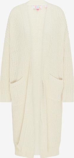 IZIA Pleten plašč | volneno bela barva, Prikaz izdelka