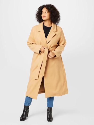 ABOUT YOU Curvy Between-Seasons Coat 'Vanessa' in Camel, View model