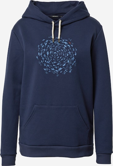 GREENBOMB Sweat-shirt 'Animal Fish Circle' en bleu marine / bleu fumé / melon, Vue avec produit