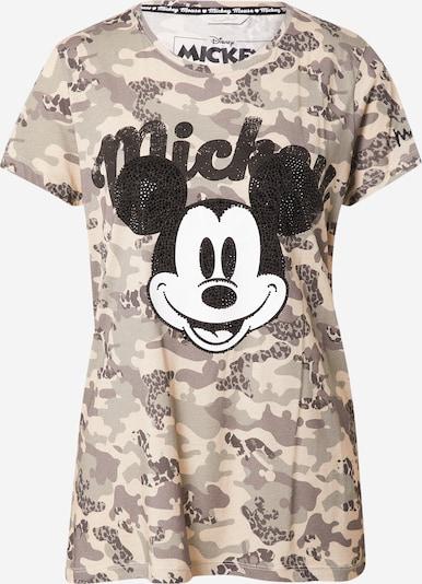 Tricou 'Mickey' Frogbox pe bej / bej închis / negru / alb, Vizualizare produs