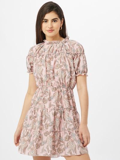 Trendyol Robe-chemise en crème / mastic / bleu clair / rouille / rose, Vue avec modèle