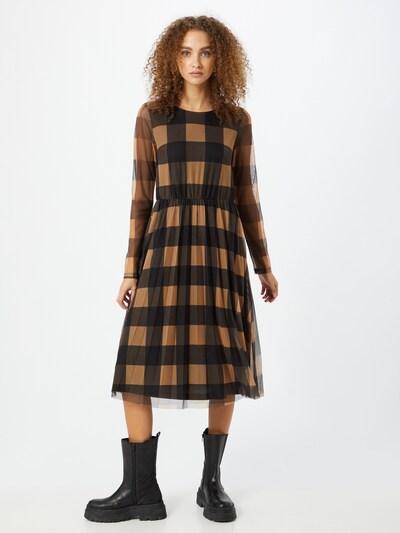 MORE & MORE Kleid in camel / schwarz, Modelansicht