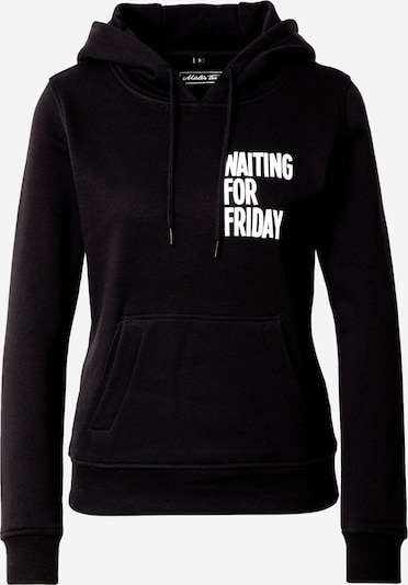 Merchcode Sweater majica 'Waiting For Friday' u crna, Pregled proizvoda