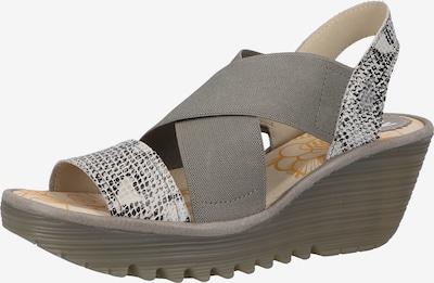 FLY LONDON Sandalen in grau / weiß, Produktansicht