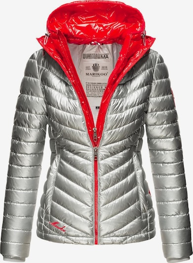 MARIKOO Winter jacket 'Lennjaa' in red / silver, Item view