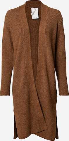 Thought Knit cardigan 'ANGIE' in Brown