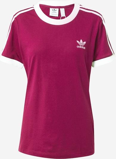ADIDAS ORIGINALS T-Shirt in aubergine / weiß, Produktansicht