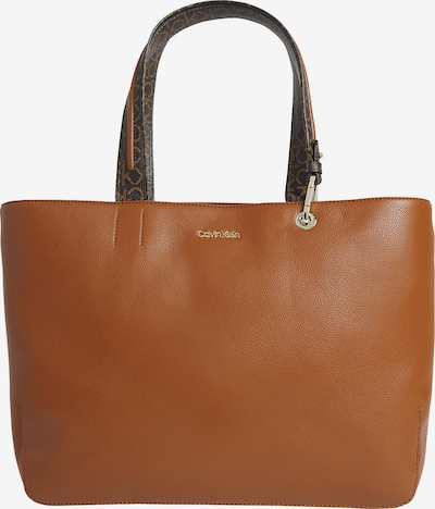 Calvin Klein Shopper in karamell / dunkelbraun / gold, Produktansicht