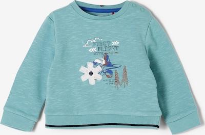 s.Oliver Sweatshirt in himmelblau / grau / weiß, Produktansicht