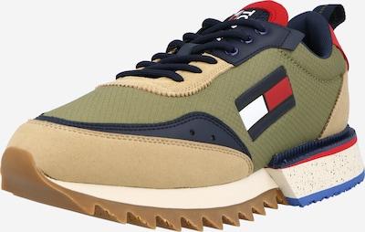 Tommy Jeans Nízke tenisky - béžová / tmavomodrá / svetlozelená / červená, Produkt