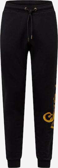 Pantaloni Carlo Colucci pe galben auriu / gri închis / negru, Vizualizare produs