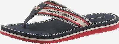 TOMMY HILFIGER Žabky - béžová / tmavě modrá / červená, Produkt