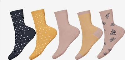 NAME IT Chaussettes 'Vinni' en bleu marine / jaune d'or / rosé / blanc, Vue avec produit