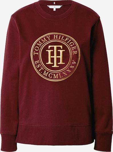 TOMMY HILFIGER Sweatshirt in gold / bordeaux, Produktansicht
