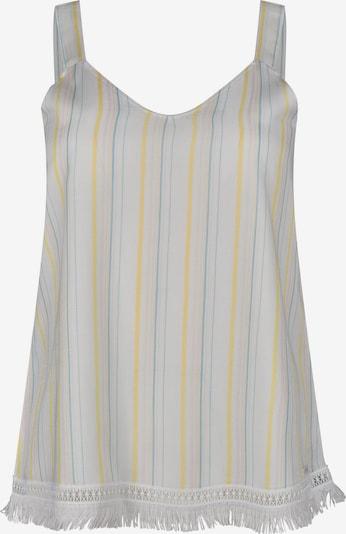 Skiny Slaapshirt 'Festival Vibe' in de kleur Beige / Smoky blue / Goudgeel / Wit, Productweergave