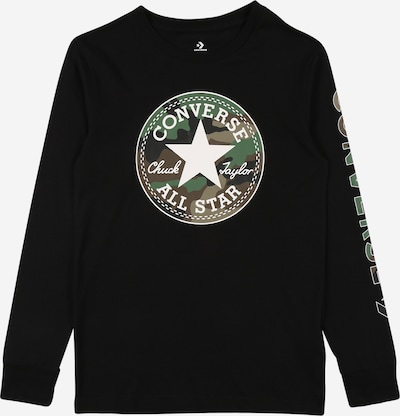 CONVERSE Tričko - zelená / kaki / čierna / biela, Produkt