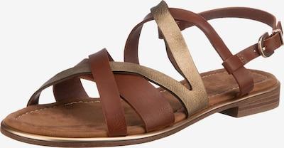 ESPRIT Sandale 'Moa' in braun / gold, Produktansicht